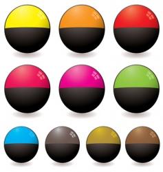 semi circular web icon vector image