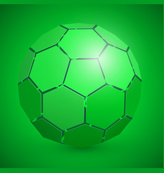 abstract soccer 3d ball green vector image vector image