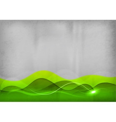 background green wave vector image