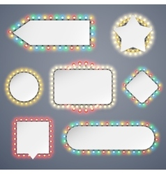 Banners With Electric Bulbs Decoration vector image