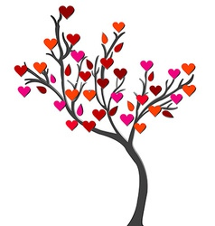 Card with love tree over white background vector image vector image