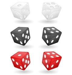 casino dice 01 vector image