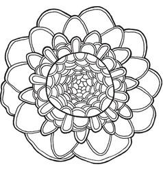 exotic flower mandala isolated element vector image