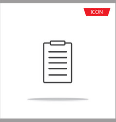 checklist line icon clipboard icon vector image