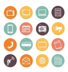 Flat design advertising elements icons web vector image vector image