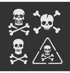 Set of symbols Skull vector image vector image