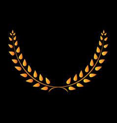 sign laurel wreath gold 403 vector image vector image