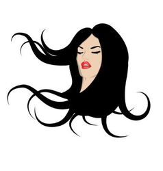 woman with flowing hair vector image vector image