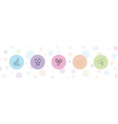 5 latin icons vector