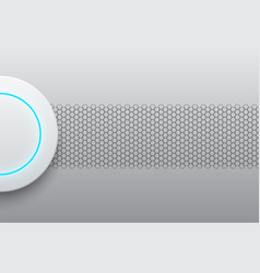 abstract modern white circle button technology vector image vector image