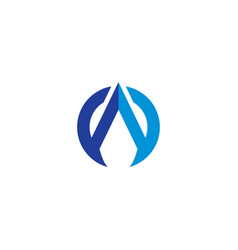 aw logo simple design with blue color vector image