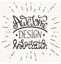 Awesome design inspiration handwritten design vector