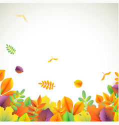 background for autumn season with vector image