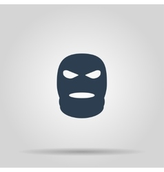 Balaclava terrorist military mask simple icon vector