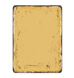 Blanked vintage rusty metal plate vector