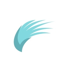 Blue birds wing icon flat style vector image