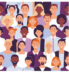 business people crowd pattern office employees vector image