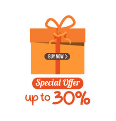 Buy now special offer up to 30 template design vector