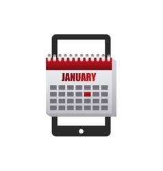 calendar app smartphone icon vector image