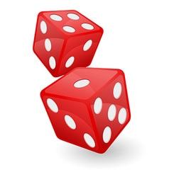 Casino dice 02 vector