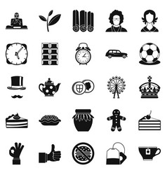 Char icons set simple style vector