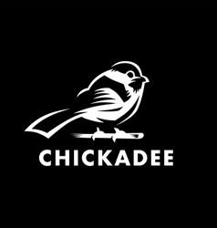 chickadee bird logo icon vector image