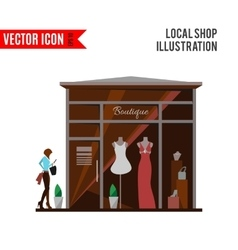 clothing store man and woman boutique vector image