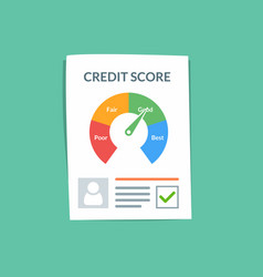 credit score document concept personal vector image