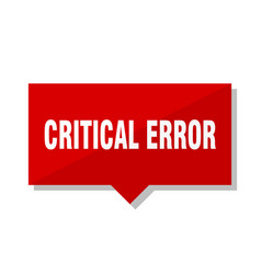 Critical error red tag vector