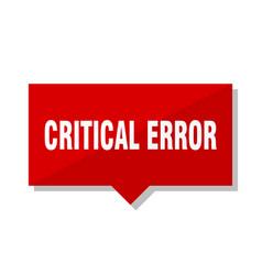 Critical error red tag vector