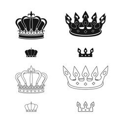Design medieval and nobility sign set vector