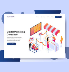 digital marketing consultant isometric concept vector image
