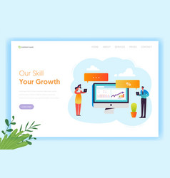 digital marketing technology landing page vector image
