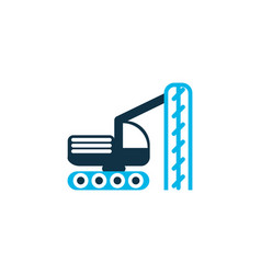 Drilling machine icon colored symbol premium vector