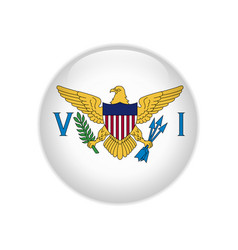 Flag united states virgin islands button vector
