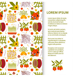 Flat poster or banner template with superfood vector