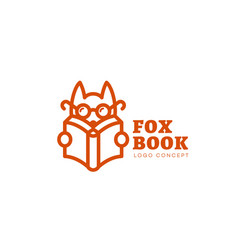 fox book logo vector image