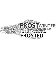 Frost word cloud concept vector