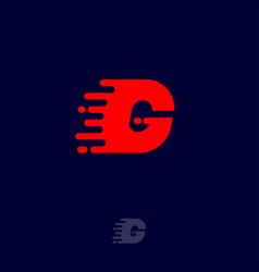 G letter winds movement dynamic logo velocity vector