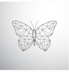 Geometric butterfly vector