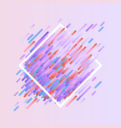 Glitched geometric colorful banner with distortion vector