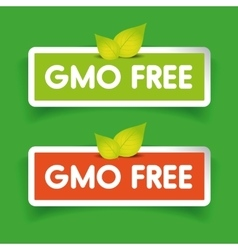 GMO free label set vector