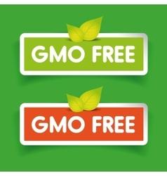 Gmo free label set vector