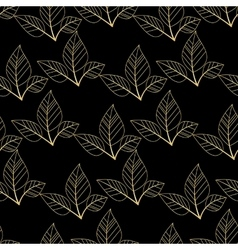 Gold leaves seamless vector