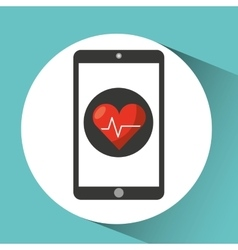 Healthcare app cardiology heart graphic vector