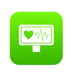 heartbeat icon digital green vector image
