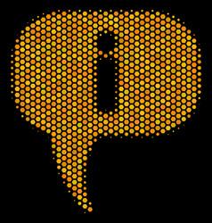 Hexagon halftone about icon vector