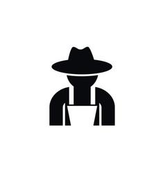 Isolated fruit-grower icon gardener vector