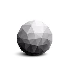 isolated round abstract composition vector image