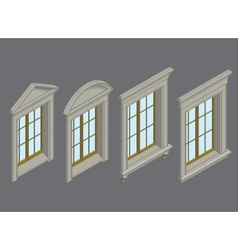 isomentic windows set vector image